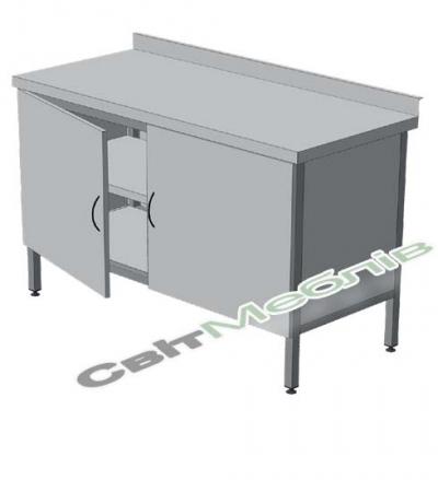Стіл-тумба з двома полицями з розпашними дверима