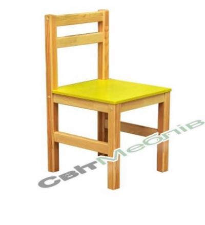 Стілець дитячий дерев'яний №2