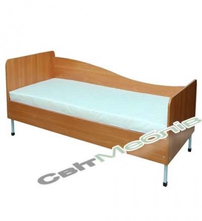 Ліжко 1-спальне з заокругл. спинками