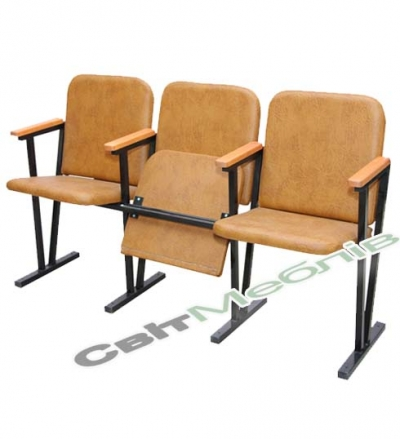 Крісло для актового залу (шкірзам)