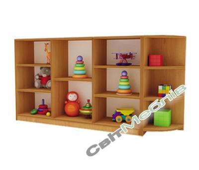 Стелаж для іграшок з кутовим елементом