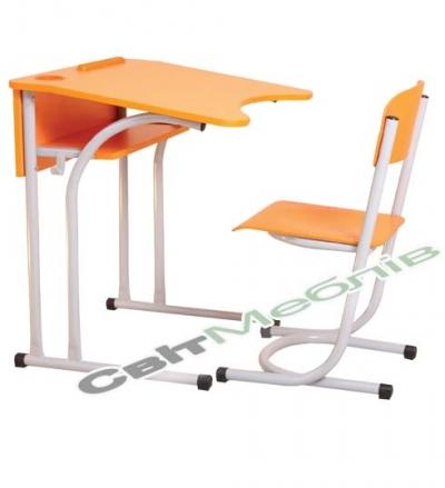 Комплект:стіл 1-місний антиск., №4,5,6 + стілець