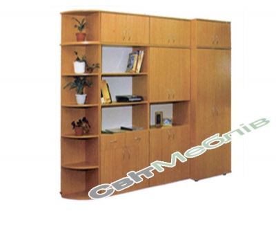 Стінка шкільна для кабінету 4 секції