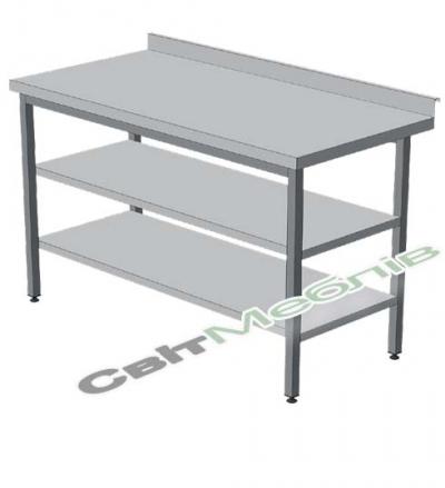 Стіл виробничий з двома полицями