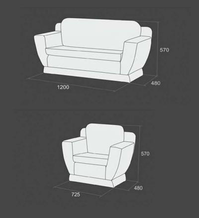 Диван і крісло для дит.садочку №6