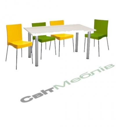 Комплект  стіл та стільці (1 стіл + 4 стільця)